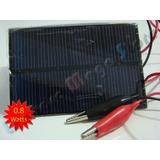 Painel Placa Célula Energia Solar Fotovoltaica 5.5v 160 Mah