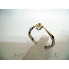 Alianza /anillo De Compromiso De Plata 925 Cristal Swarovski