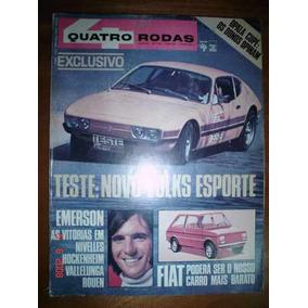 Revista 4 Rodas 1972 Nº 144 Teste Sp2 Sp 2 Rara Vw Auto Ar