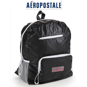 Bolsa Aeropostale Backpack Mochila Negra Live Love Dream Ve