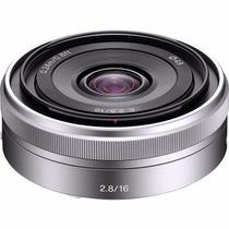 Lente Sony Sel 16mm F/2.8 Grande Angular E-mount Sel-16f28