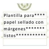 Plantilla Para Redactar Documentos En Papel Sellado