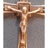 Antigua Cruz De Plata Sello Cuño 900 Art Deco Jesus Cristo