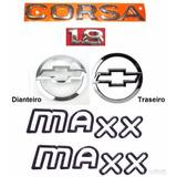 Kit Emblemas Corsa Sedan 1.8 + Maxx Preto - 2003 À 2007