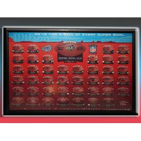 Nfl Super Bowls Cuadro Poster Balón Wilson 1 A 42