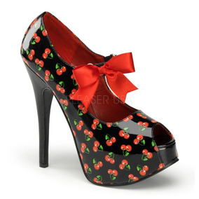 Zapatillas Estampado Cherrys Sexy Psychobilly Teeze25-3