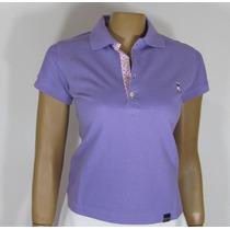 Blusa Baby Look, Golfe Referência 193, Tamanho G, Lilás.