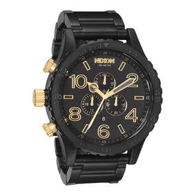 Relógio Nixon 5130 Original Dourado Preto Branco Garantia