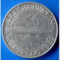 Alemanha-1930-moeda Prata Graf Zeppelin-3 Reichsmark-perfeit