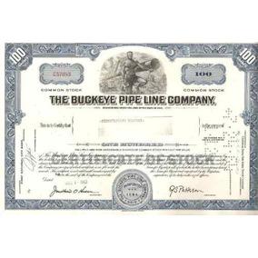 Apolice - The Buckeye Pipe Line Company - Nº C 57083