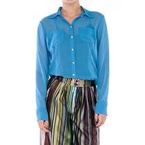 Camisa Feminina Clássica Em Seda Pura--marca Belle & Bei