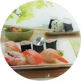 Prato Tampo Bandeja Giratória 35cm Sushi Vidro Temperado 5mm