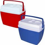 02 Caixa Térmica 34 Litros Com Alça E Porta Copos Cooler Mor