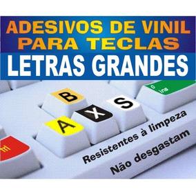 Adesivos De Vinil Letras Grandes Ou Normais P/ Teclados