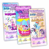 Diseño De Invitaciones Imprimibles Pequeño Pony