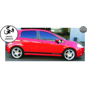 Faixas Laterais Fiat Punto Abarth Racing Adesivo Carro Tunin