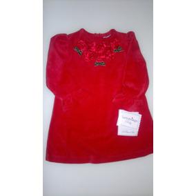 Vestido Vermelho Com Calcinha Tamanho 12 Meses