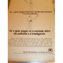 ( L - 290 ) Propaganda Antiga Banco Econômico Da Bahia S.a
