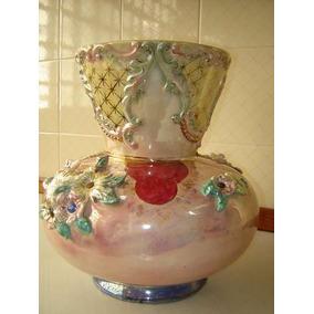 Glorioso,raro Vaso Coimbrarte Em Cerâmica Vitrificada,déc.60