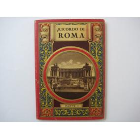 Álbum Postal Antigo Ricordo Di Roma