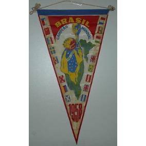 Flâmula Do Brasil Campeão 1958 Antiga, Raridade