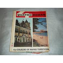Revista Quatro Rodas 4ª Coleção Mapas Turisticos Edição 1966