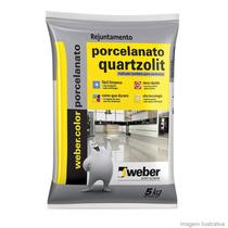 Rejunte Porcelanatos 5kg Quarzolit Marron Tabaco Extraliso