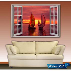 cuadros modernos decorativos ventana cortina mxcm