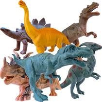 Dinossauro De Brinquedo Coleção Com 6 Dinos Jurássicos