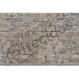 Tecido Jacquard Wall 1m X 2,8m Estampa Tijolo Aparente Bege