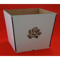 Cachepo Em Mdf Branco - Corte A Laser(ref.004)