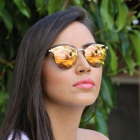 Kit 3 Óculos De Sol Fendi Iridia Espelhado Estilo Gatinho