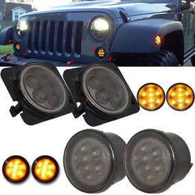 Luces Led Jeep Wrangler Jk Frontales Laterales Ambar