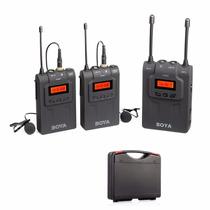 Microfone Lapela Duplo Sem Fio Boya By-wm8 - 2 Transmissores