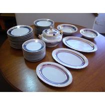 Aparelho Jantar Década De 50 Em Porcellana Mauá (42 Peças)