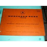 Catálogo De Peças Mercedes-benz Motor M108 1968 Original
