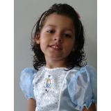 Fantasia Cinderela Roupa M 6 A 8 Anos Criança Princesa