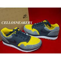 Tenis Nike Air 44 Safari Le Trainer Leather Preto Anos 80