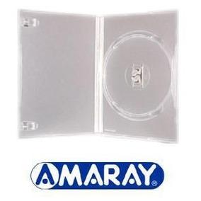 100 Capa Caixinha Dvd Amaray Ou Pack - Transparente