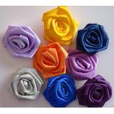 Rosas E Flores De Cetim - Únicas No Mercado Livre