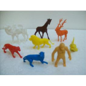 Brinquedo Antigo Gulliver Animais Zoologico Lote C/8 Anos 80