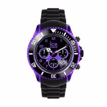 Reloj Ice Watch Electrik Negro Y Morado 53mm Ch.kpe.bb.s.12