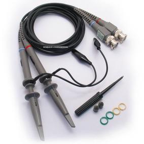 Par Pontas Para Osciloscópio 100mhz X1 X10 120cm P6100