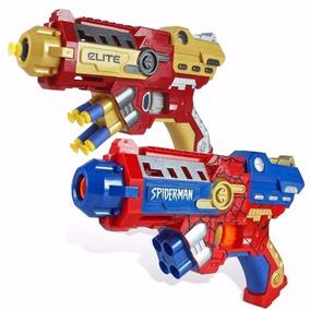 Kit 3 Nerf Pistola Homem Aranha + Homem De Ferro - Avengers
