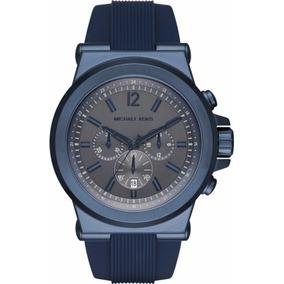 Reloj Michel Kors Caballero Mk 8493 Crono Azul Envío Gratis
