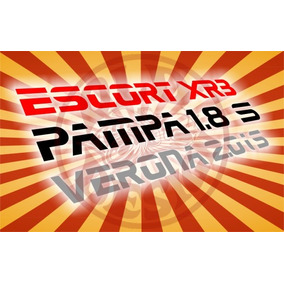 Adesivos Ford Escort Xr3 Verona Pampa 1.8 Hobby Frete Gratis
