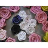 100rosa De Cetim Tam.1.5cm A 2cm,rosas,flor,laços,lacinhos