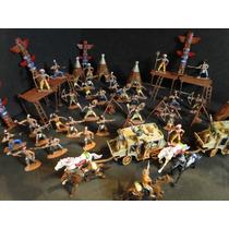 Reserva Indigena Com 96 Peças Indios Forte Apache