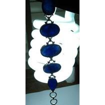 Pulseira Bracelele Feminino Prata 925 Safiras Azuis Naturais