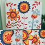 Cuadro Pintado Sobre Bastidor. Acrilicos, Flores Azularte